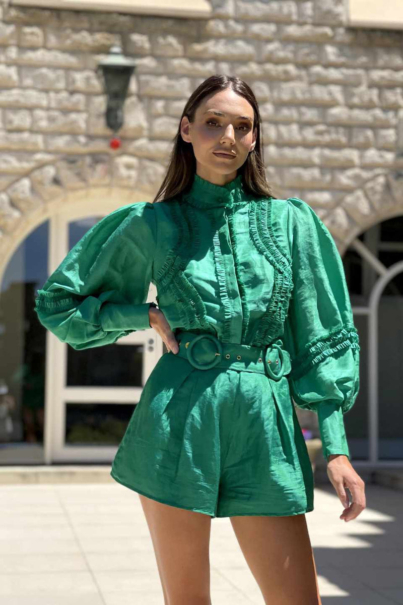 Mackenzie Mode / Starlet Blouse / Green