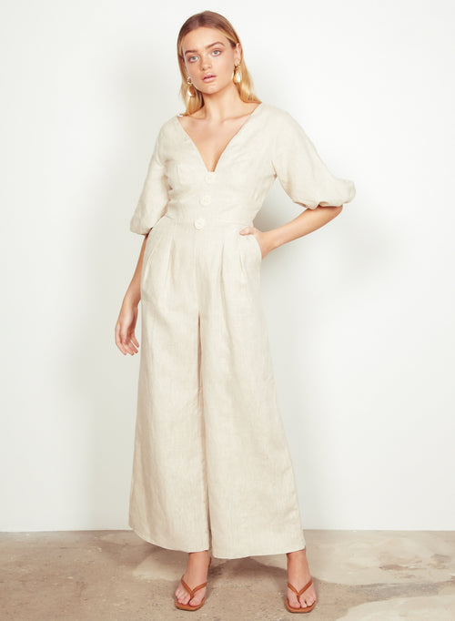 Wish The Label / Ariel Jumpsuit / Natural