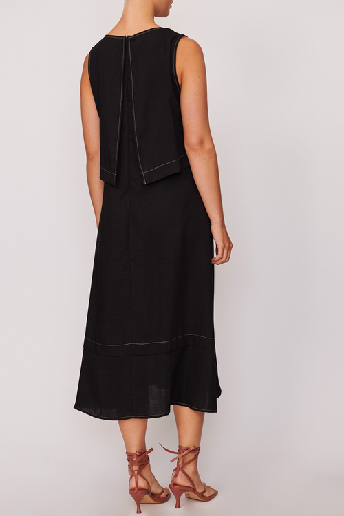 P O L / Paloma Double Layer Dress / Black