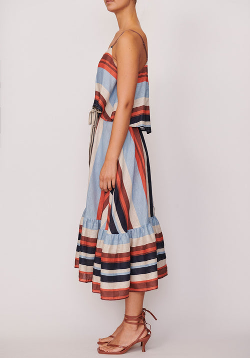 P O L / Shutter Sun Dress / Shutter Stripe