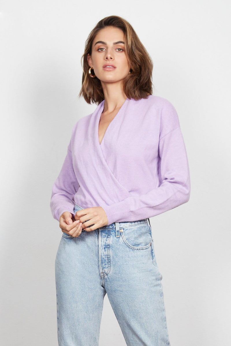 Wish The Label / Hometown Crossover Sweater / Lilac