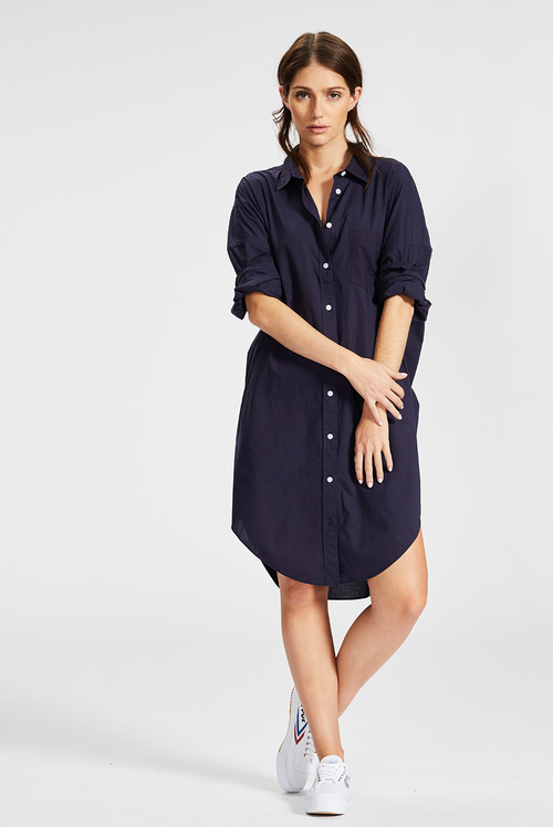 L M N D / Chiara Shirt Dress / Navy