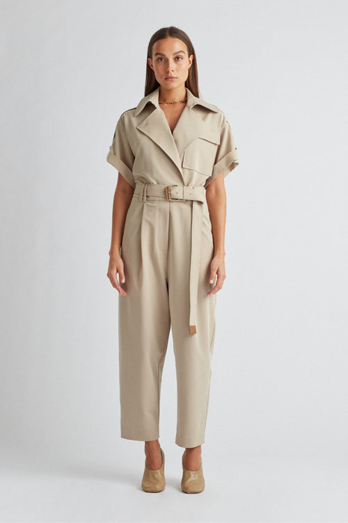 Camilla And Marc / Francesca Jumpsuit / Pale Stone