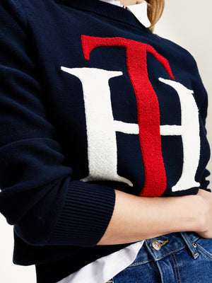 Tommy Hilfiger / TH Graphic CNK Sweater / Desert Sky