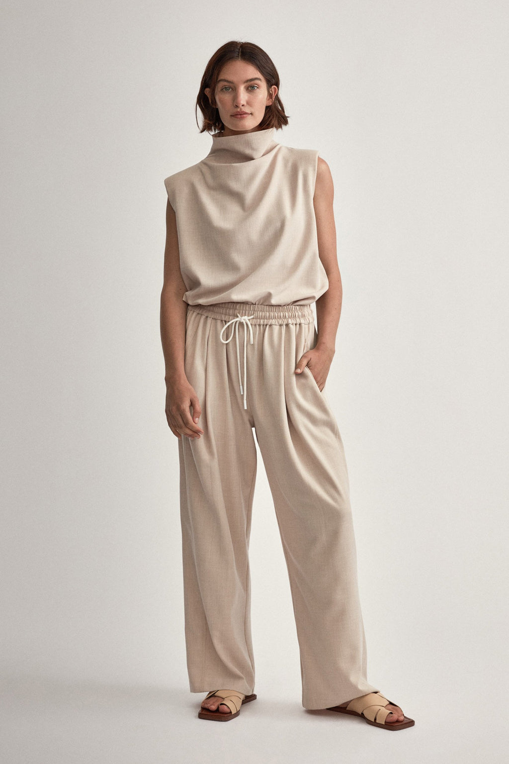 Camilla And Marc / Benito Blocked Pant / Oatmeal