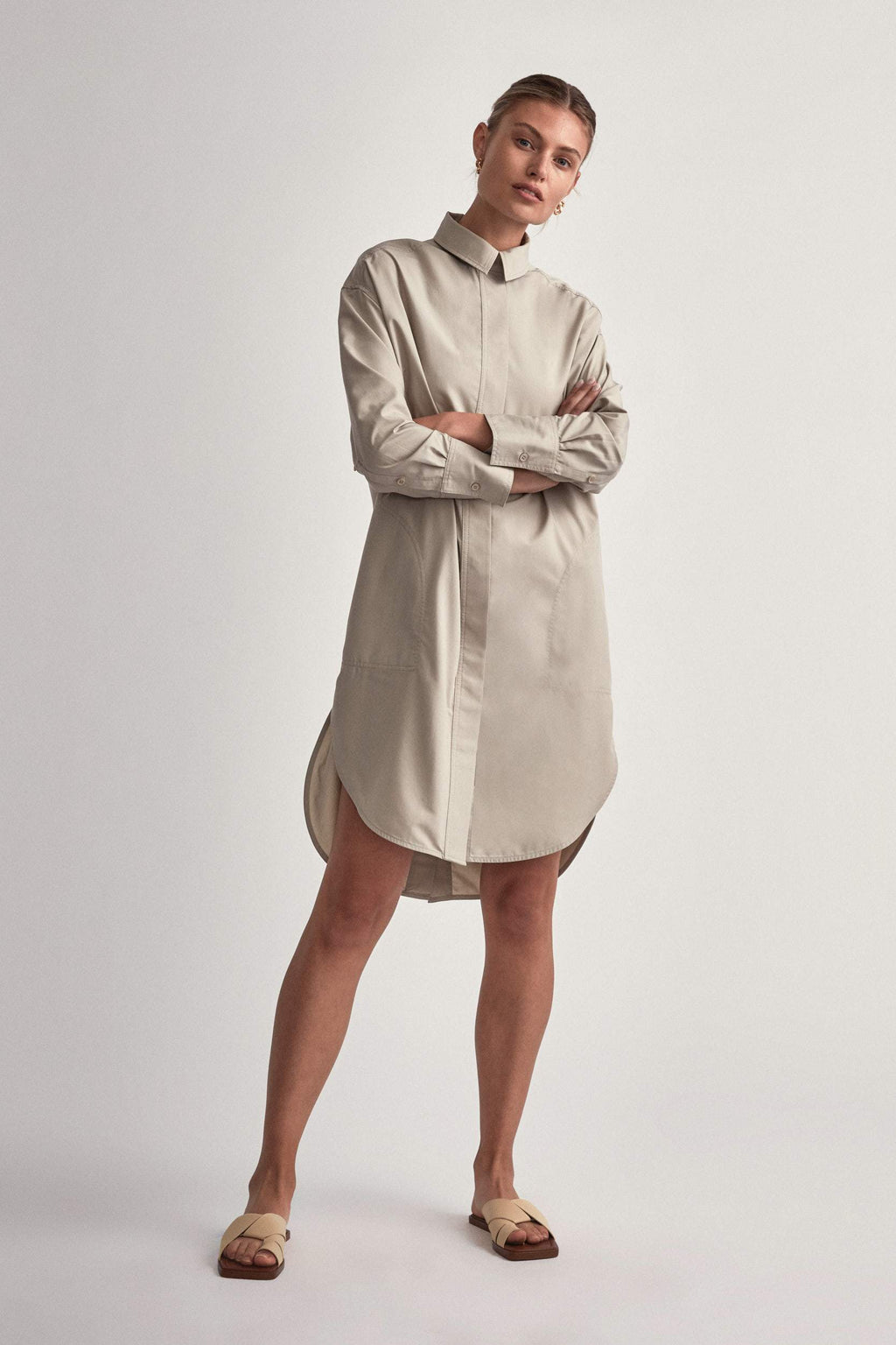 Camilla And Marc / Frost Shirt Dress / Oyster