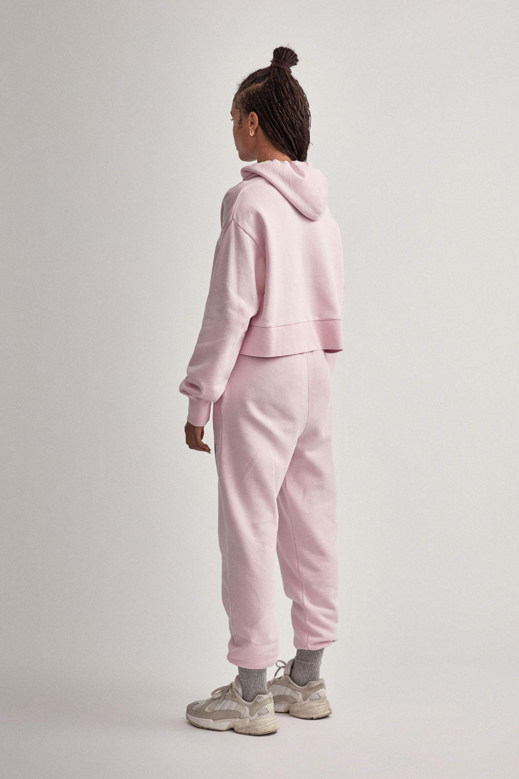 Camilla And Marc / Marvin Cropped Hoodie / Ice Pink