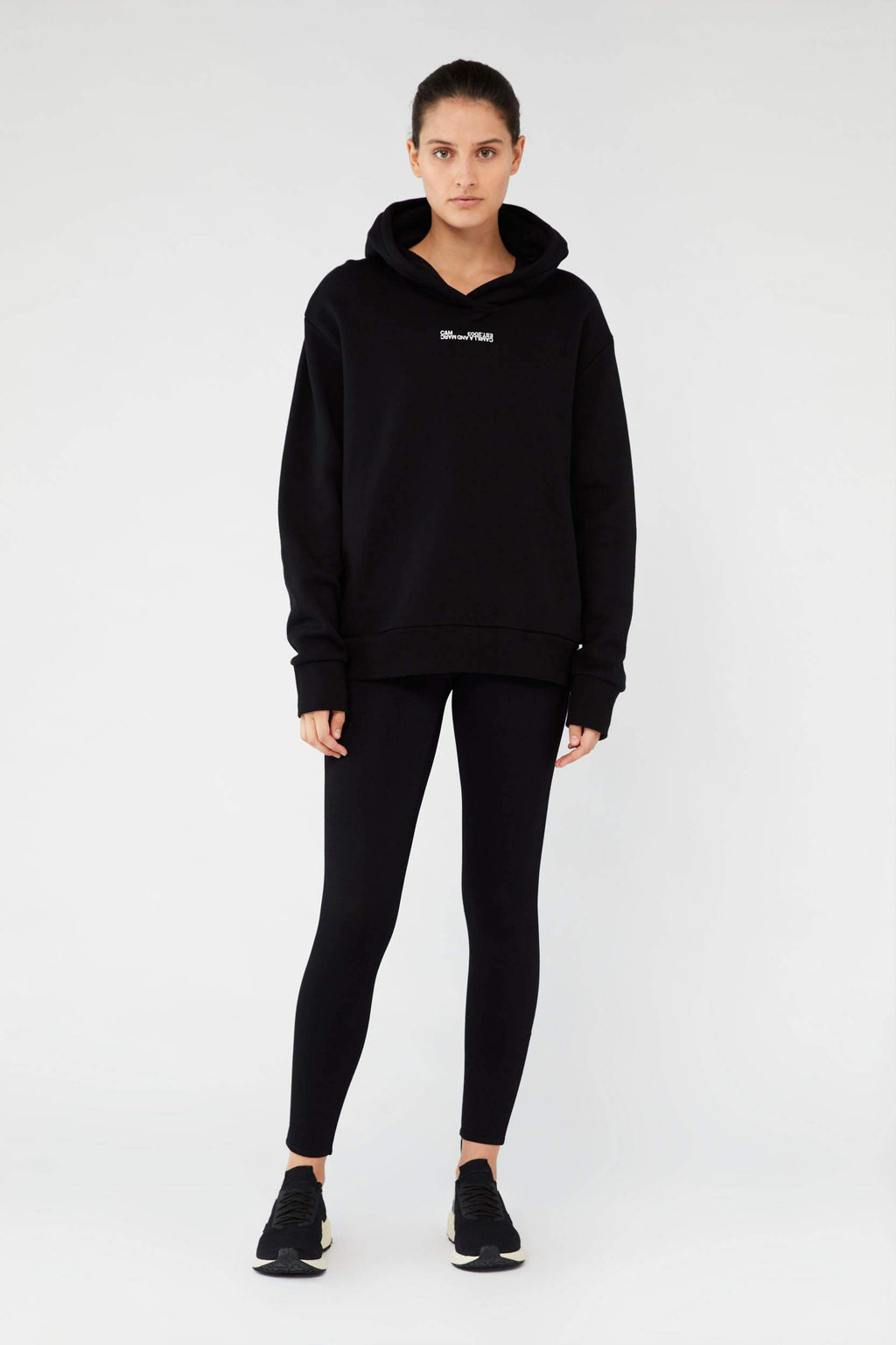 Camilla And Marc / Denver Hoodie / Black w White
