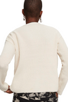 Maison Scotch / V-Neck Chunky Rib Knit Cardigan / Off-White