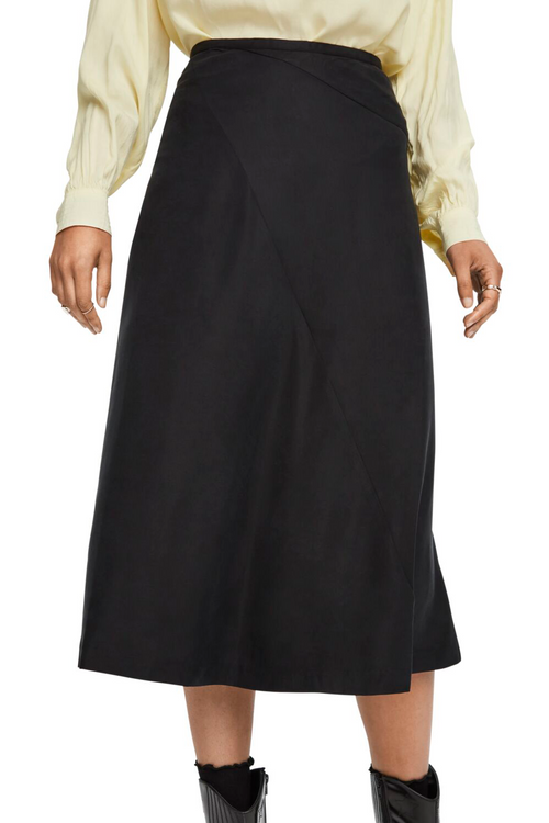 Maison Scotch / Midi Length Skirt / Black