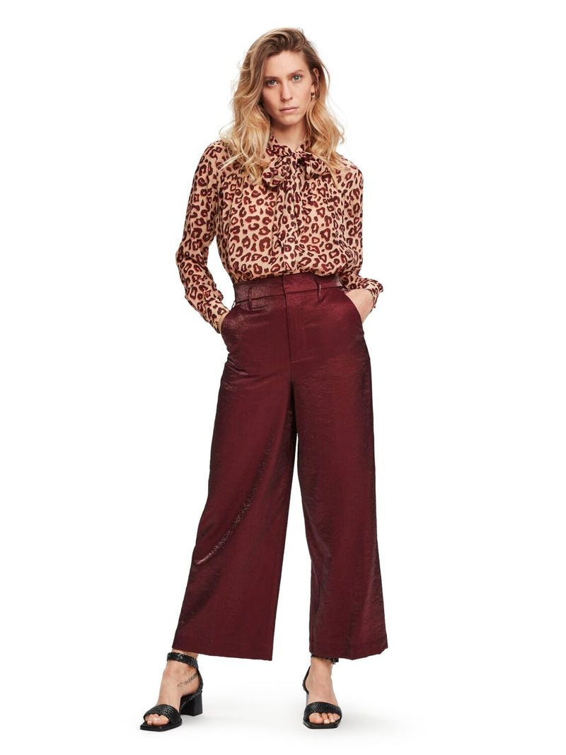 Maison Scotch / Tailored Wide Leg Pants / Plum