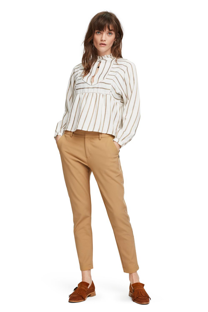Maison Scotch / Metallic Striped Tunic / Combo Q