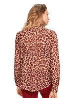 Maison Scotch / Printed Shirt With Bow Collar / Combo K
