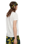 Maison Scotch / Short Sleeve Tee With Burn-Out / White