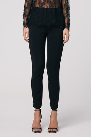 Once Was / Oregon Stretch Crepe Slim Fit Pant / Black