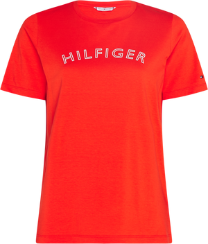 Tommy Hilfiger / Reg CNK Outline Tee / Oxidized Orange