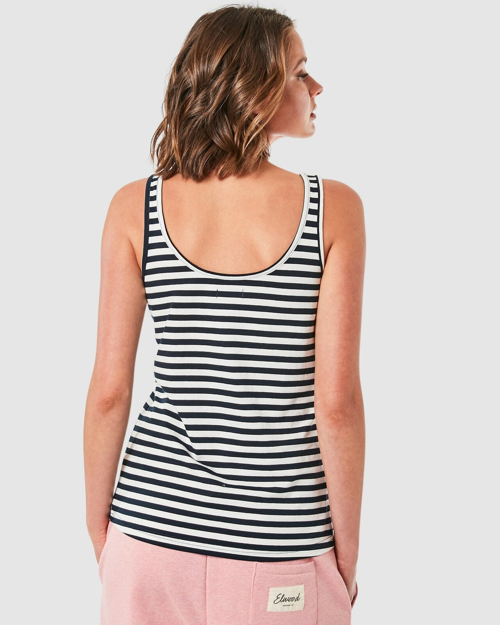 Elwood / Cally Singlet / Navy/White Stripe