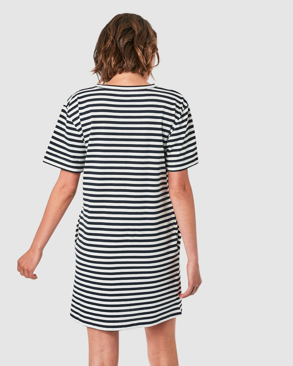 Elwood / Ally Dress / Navy/White Stripe