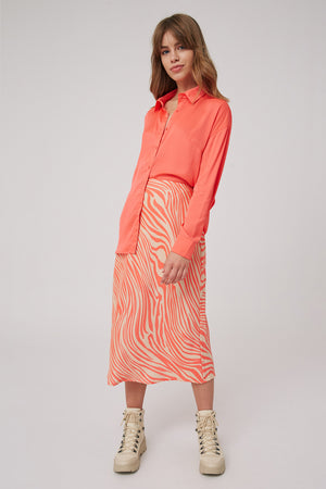 The Fifth Label / Long Gone Skirt / Coral+Nude