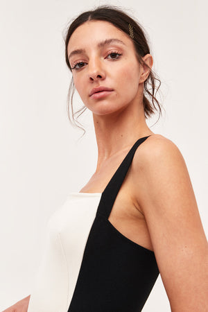C/MEO Collective / Consumed Midi Dress / Black+Ivory