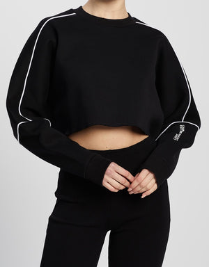 Camilla And Marc / Seville Cropped Bonded Crew / Black