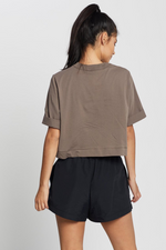 Camilla And Marc / Arquette Crop Logo Tee / Ash