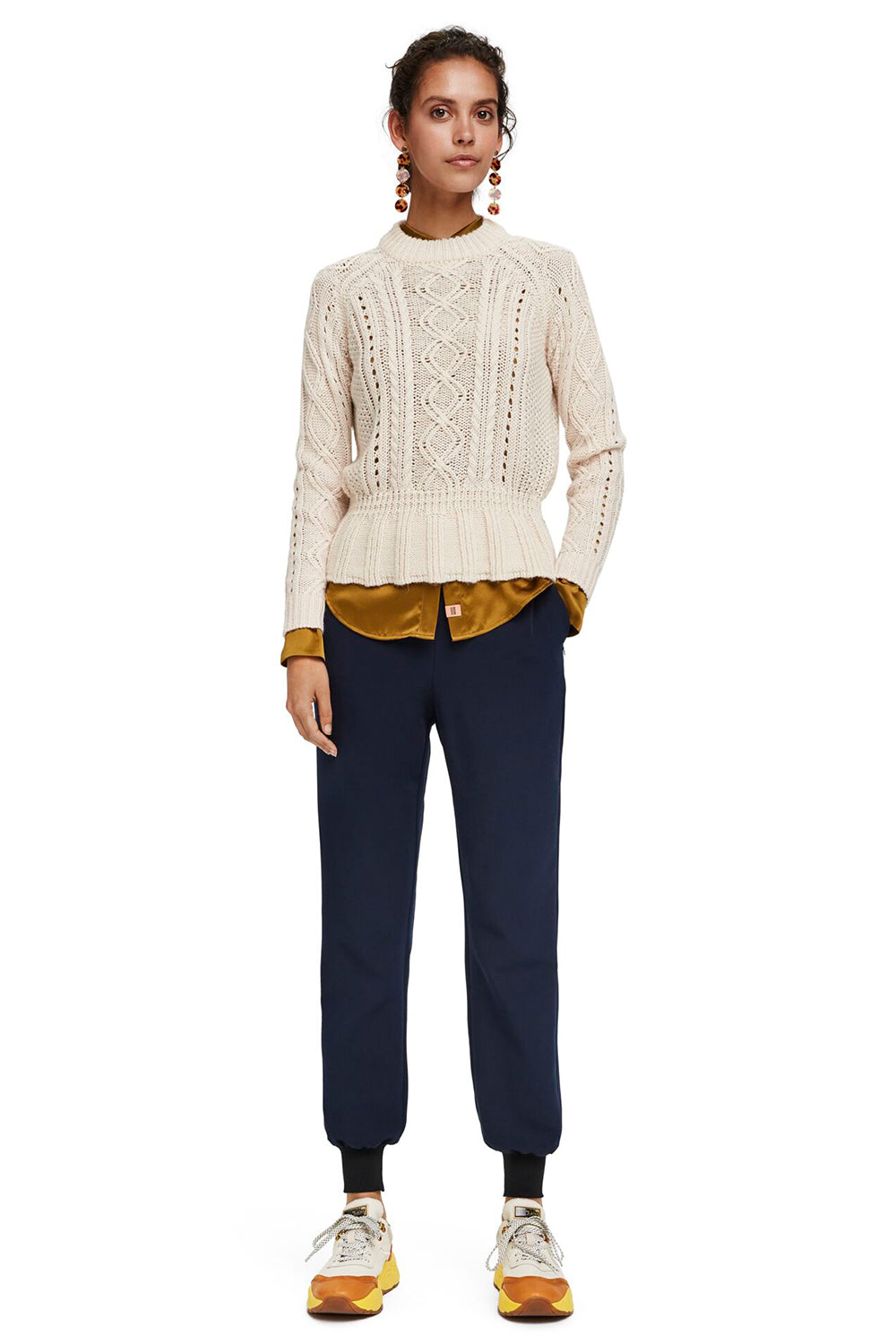Maison Scotch / Drapey Pants With Rib Cuffs / Night