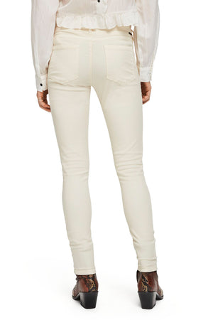 Maison Scotch / Bohemienne Skinny Fit Pants / Antique White