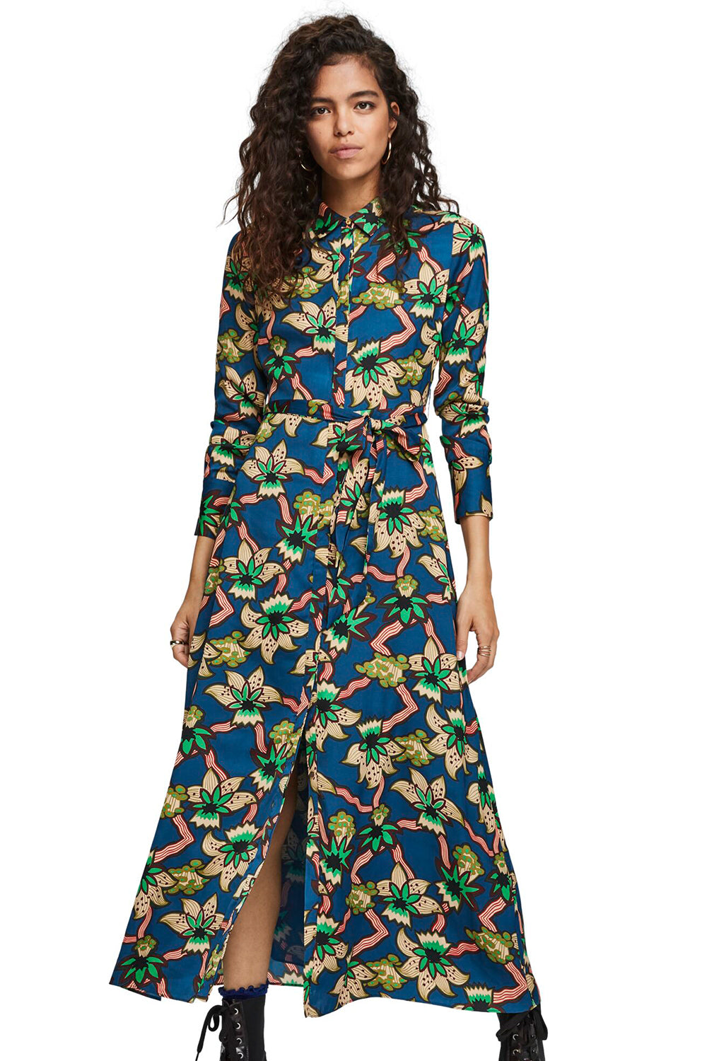 Maison Scotch / Belted Maxi Dress / Combo