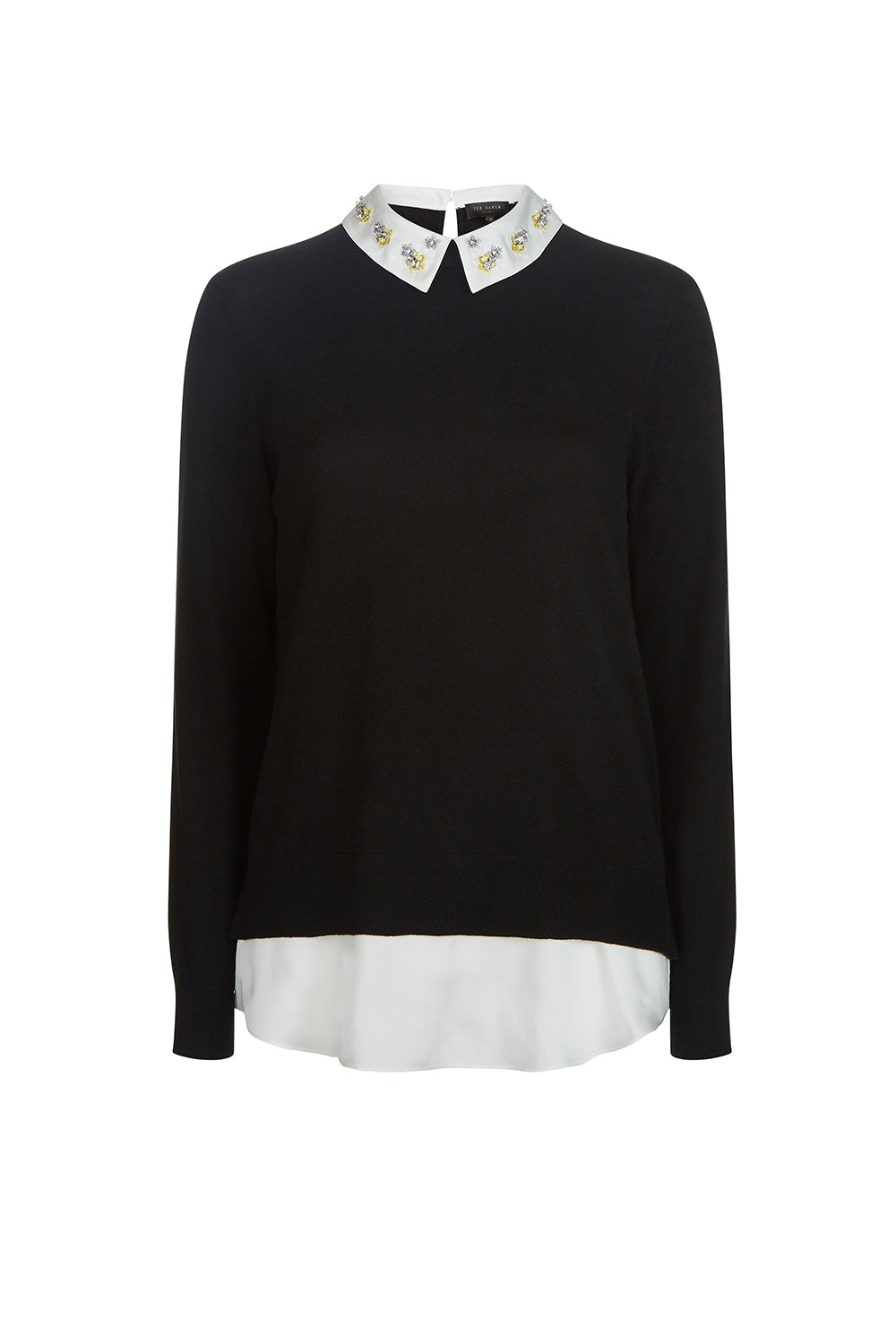 Ted Baker Andryaa Pergola Embroidery Mockable Jumper Black