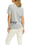 Tommy Hilfiger / Reg CN Script Tee / Light Grey Heather