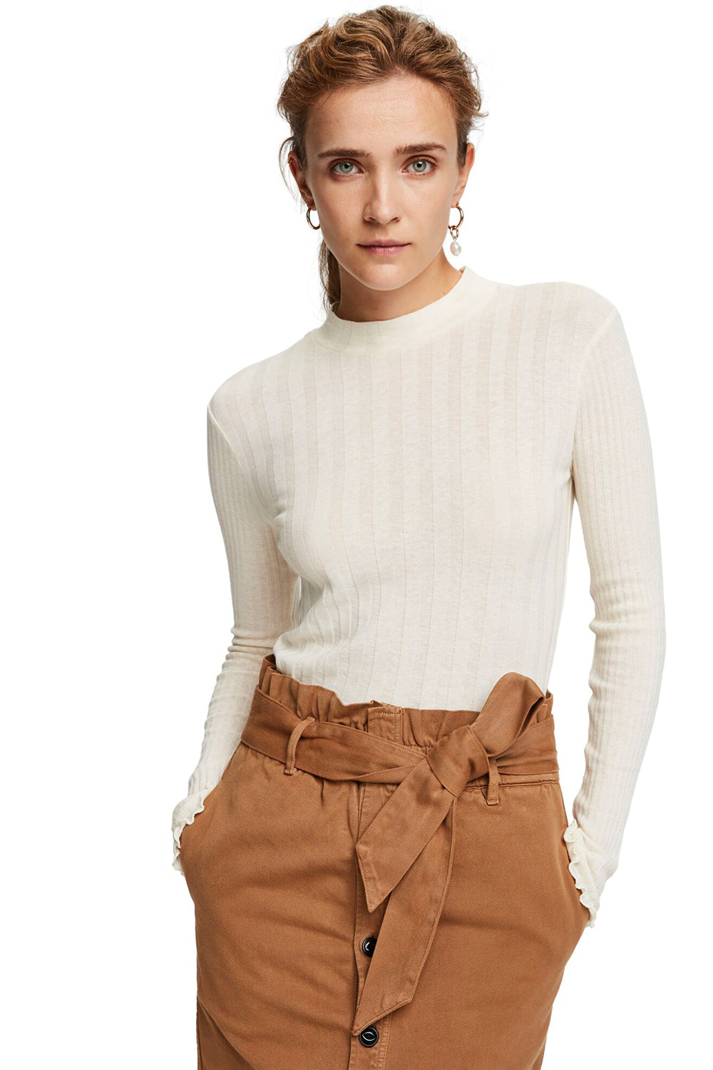 Maison Scotch / Long Sleeve Ribbed Turtleneck
