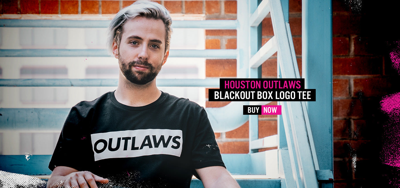 Houston Outlaws Boxed SS Tee - White