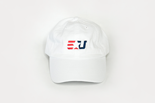 eUnited EU Logo Adjustable Dad Hat White