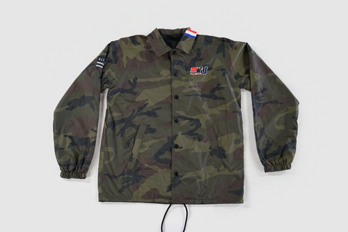 EUNITED STRIPE COLLAR COACHES JACKET