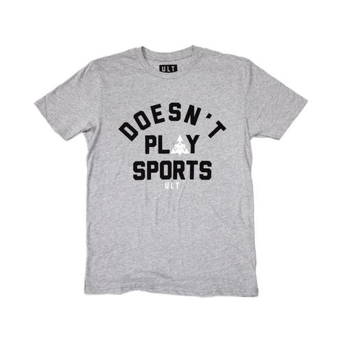ULT Doesn't Play Sports S/S Tee - Heather Grey