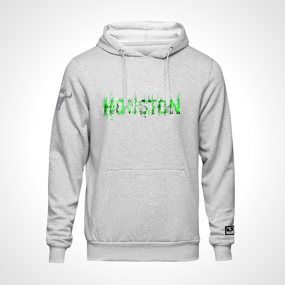 Houston Outlaws ULT Expressionist Pullover Hoodie - Heather Grey