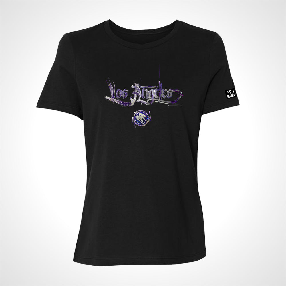Los Angeles Gladiators ULT Expressionist Women's S/S Tee - Black