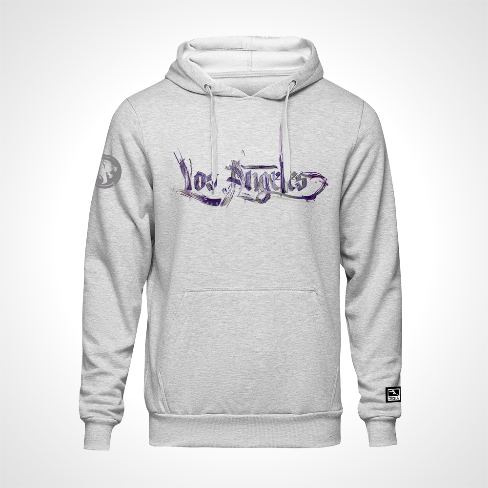 Los Angeles Gladiators ULT Expressionist Pullover Hoodie - Heather Grey