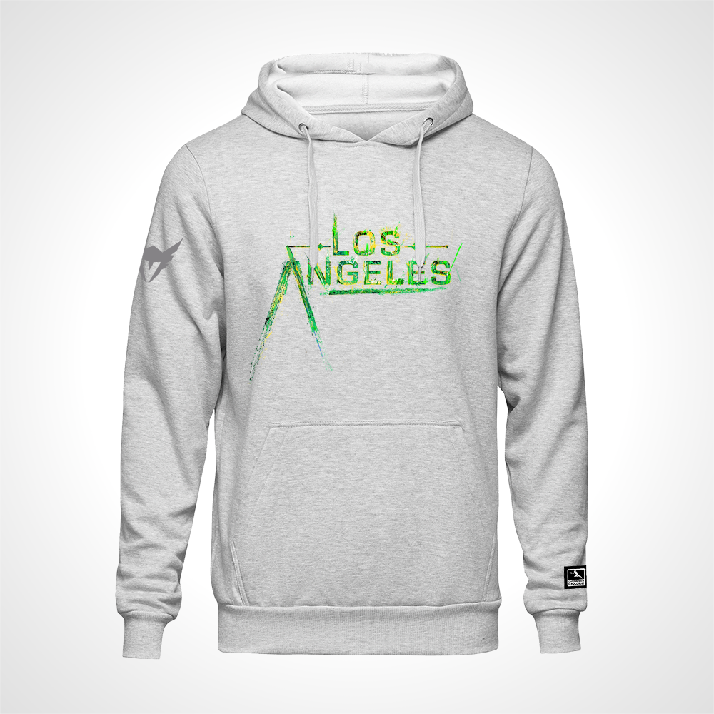 Los Angeles Valiant ULT Expressionist Pullover Hoodie - Heather Grey