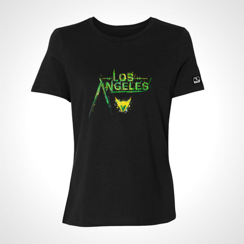 Los Angeles Valiant ULT Expressionist Women's S/S Tee - Black