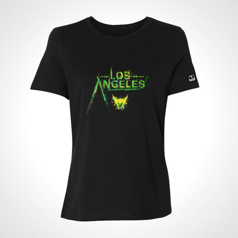 Throwback - Los Angeles Valiant ULT Expressionist Women's S/S Tee - Black