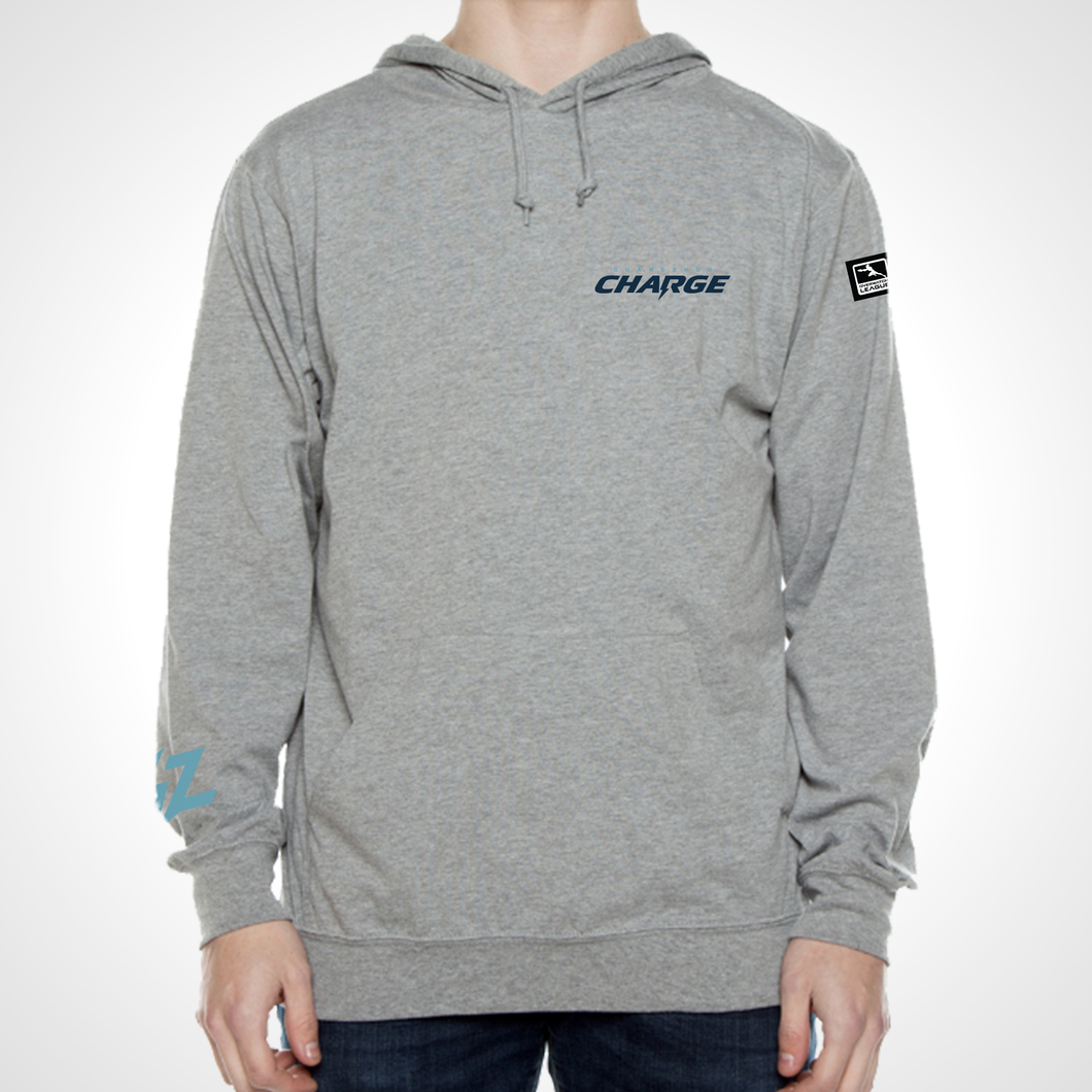 Guangzhou Charge ULT Long Sleeve Hooded Tee - Heather Grey