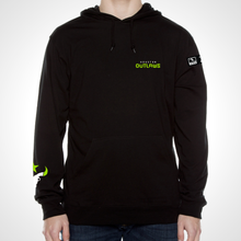 Load image into Gallery viewer, Houston Outlaws ULT Long Sleeve Hooded Tee - Black
