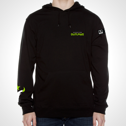 Houston Outlaws ULT Long Sleeve Hooded Tee - Black