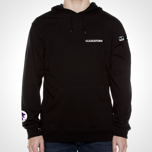 Los Angeles Gladiators ULT Long Sleeve Hooded Tee - Black