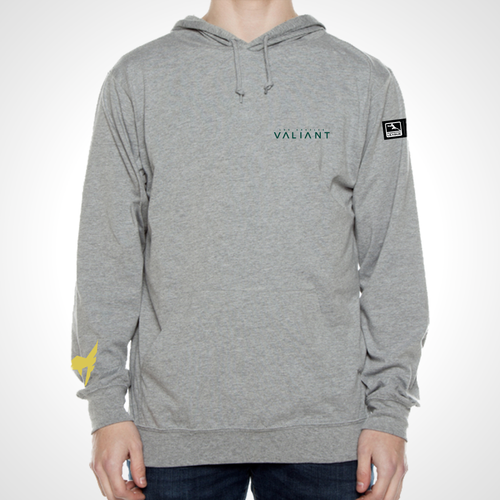 Los Angeles Valiant ULT Long Sleeve Hooded Tee - Heather Grey