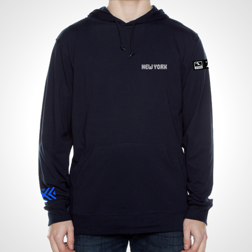 New York Excelsior ULT Long Sleeve Hooded Tee - Deep Navy