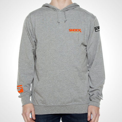 San Francisco Shock ULT Long Sleeve Hooded Tee - Heather Grey