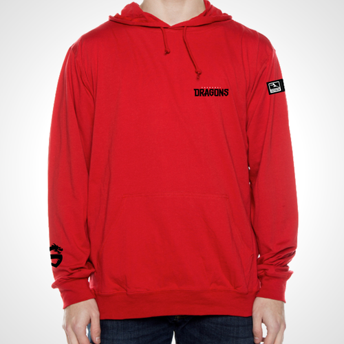 Shanghai Dragons ULT Long Sleeve Hooded Tee - Red